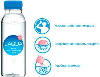 Специальная вода для запивания лекарств LAQUA®